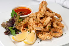 Fried Calamari Stock Photography