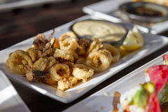 Fried Calamari Appetizer Stock Images