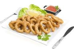 Fried calamari close up Stock Photography