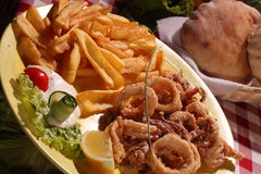 Fried calamari Royalty Free Stock Photography