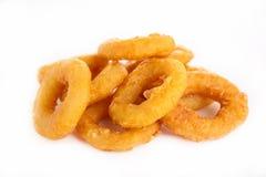 Fried calamari or onion Royalty Free Stock Photos