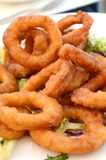 Fried calamari rings Stock Images