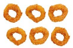 Fried calamari rings Royalty Free Stock Images