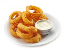 Fried calamari rings Stock Photos