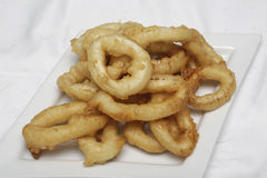 Fried calamari rings Stock Photo