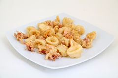 Fried Calamari Rings profond Photo libre de droits