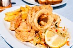 Fried calamari Royalty Free Stock Photos