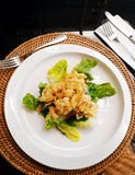 Fried calamari, squid appetiser starter Stock Image