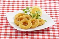 Fried Calamari (squid) Rings Stock Image