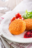 Fried camembert Royalty Free Stock Photos