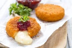 Fried Camembert (selective focus) Stock Image