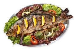 Fried carp Stock Photo