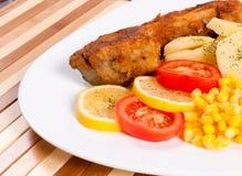 Fried carp Stock Photos