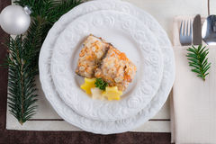 Fried CARP with almonds Royalty Free Stock Photography