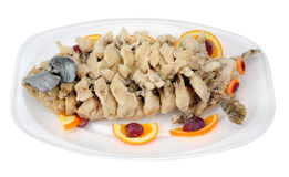 Fried carp fish in Chinesse style Royalty Free Stock Photo