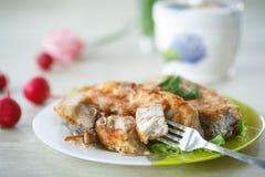 Fried carp Stock Photography