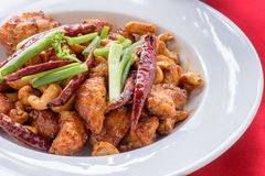 Fried cashew chicken. A kind of chinese food Stock Photography