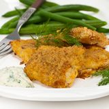 Fried Catfish fillet Royalty Free Stock Images