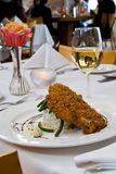 Fried catfish over rice Stock Photography
