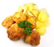 Fried cauliflower Royalty Free Stock Photography