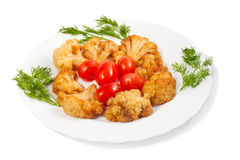 Fried cauliflower Stock Photography