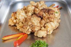 Fried cauliflower at a buffet Royalty Free Stock Image