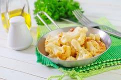 Fried cauliflower Stock Image