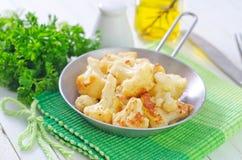 Fried cauliflower Royalty Free Stock Photos