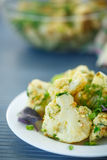 Fried cauliflower with herbs Royalty Free Stock Images