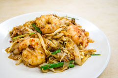 Fried Char Kway Teow. Is a popular food in Malaysia and Singapore royalty free stock photos