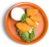 Fried Cheese stock image