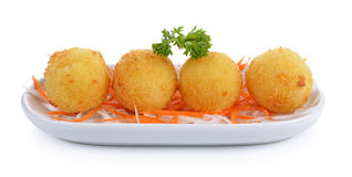 Fried cheese balls Royalty Free Stock Images