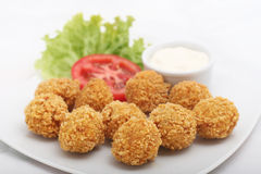 Fried cheese croquettes Stock Images