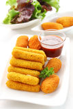 Fried cheese sticks Royalty Free Stock Image
