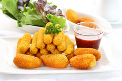 Fried cheese sticks Stock Images