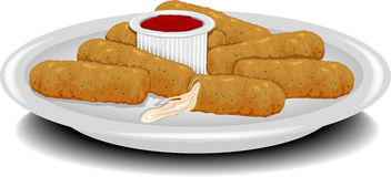 Fried Cheese Sticks Royalty Free Stock Photography