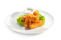 Fried Cheese Stock Photo