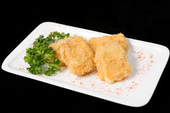 Fried cheese suluguni Royalty Free Stock Photo