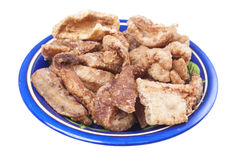 Fried chicharron pork rinds Stock Photography