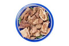 Fried chicharron pork rinds Royalty Free Stock Photo