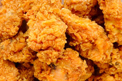 Fried chicken. The image of fried chicken Stock Photos
