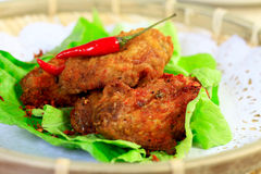 Fried chicken. Chinese crispy fried chicken with pepper Royalty Free Stock Images