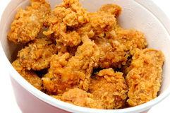 Fried chicken. In the basket Royalty Free Stock Photography