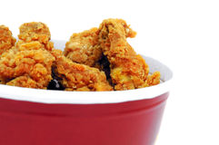 Fried chicken. In the basket Stock Photography