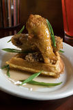Fried Chicken And Waffles Royalty Free Stock Photography