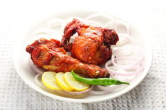 Fried chicken, Asian cuisine. Stock Image