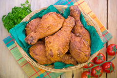 Fried chicken in the basket Royalty Free Stock Image