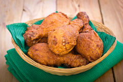 Fried chicken in the basket Stock Photo