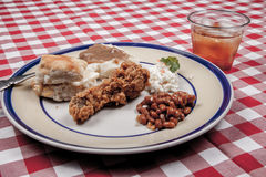 Fried chicken and beans Royalty Free Stock Photo