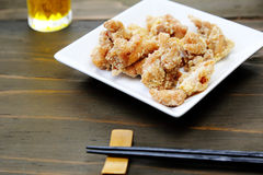 Fried chicken with beer Stock Photography